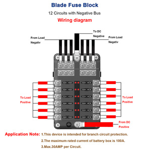 Image 5 - Car Accessories Fuse Box Holder With LED Light 12 Way Fuse Box Power Supply Insert Type Damp Proof Block Marine