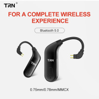 TRN BT20 Ear Hook Earphone Adapter Bluetooth V5.0 MMCX/2Pin Connector Wireless Bluetooth Headset For SE535 W60 1964 ZS10/AS10