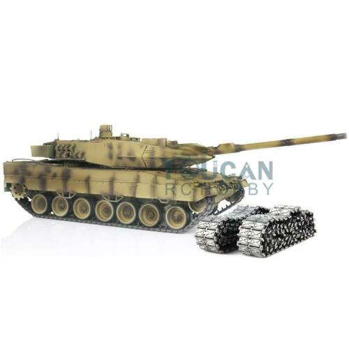 Henglong 1/16 Yellow 6.0 Generation Infrared Combat Leopard2A6 RTR RC Tank 3889 360 Rotation Turret Metal Idlers TH12800-in RC Tanks from Toys & Hobbies    1