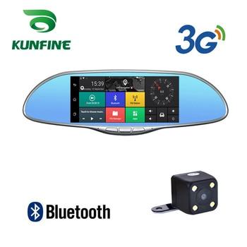 "KUNFINE 10"" Android GPS Navi Dash Cam Car DVR Mirror Video Recorder Dual Cameras Recording WIFI Bluetooth With 3G FM Transmit"