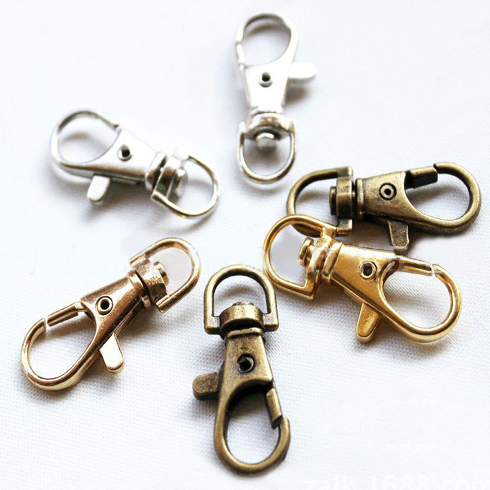 Durable Metal Carabiner Clip Style Spring Key Chain Keyring Bag Strap Accessory