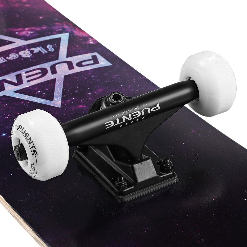 PUENTE Vier rad Doppel Lange Bord Skate Board mit vier rädern Skateboard 3 Farben - 4