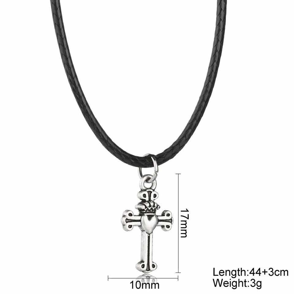 YANGQI 2019 New Cross Pendant Necklace For Women Trendy Jewelry Female Fashion Pendant Necklace Rope Chain Romantic Necklace