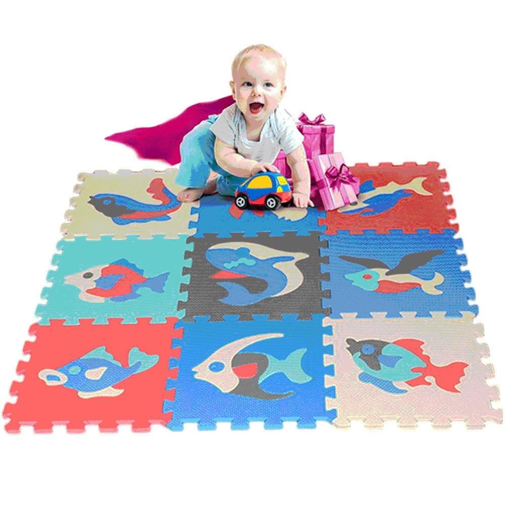 9 Pcs Set Colorful Alphabet Numbers EVA Floor Play Mat Baby Playmats Baby Room Foam Puzzle Activity MATS