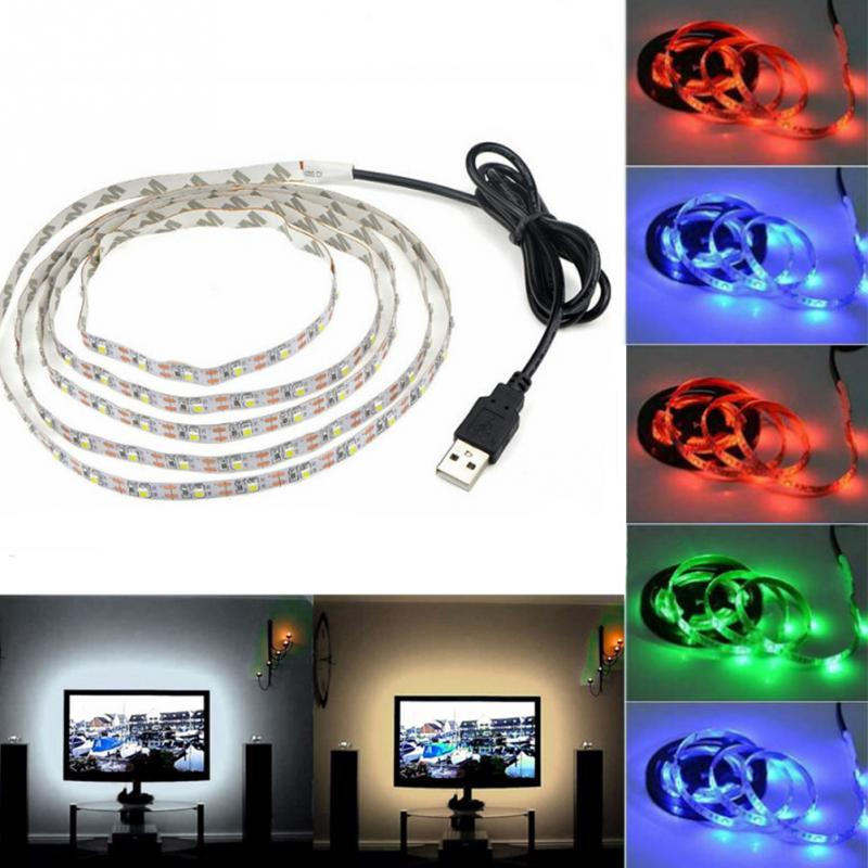 USB Power LED Lamp Strip Light Under Cabinet Light TV