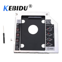 Kebidu 12,7/de aluminio de 9,5mm Disco Duro Bay Universal 2,5 2nd Ssd Hd disco duro SATA HDD bahía adaptador de Caddy para Cd Dvd(China)