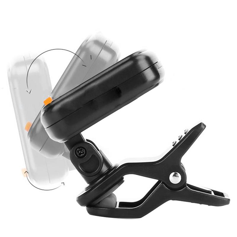 AT 101 Digital Clip Type Electric Digital Guitar Tuner Foldable High Sensitivity Rotating Clip in Guitar Parts Accessories from Sports Entertainment