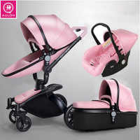 Aulon Stroller Transformer 3-in-1 Stroller Eco Leather Fabric Free Shipping