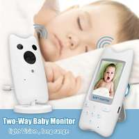2.4 LCD Wireless Audio Video Baby Monitor Baby Security Camera Support Photo Music Night Vision Two Way Talk Baby Safety