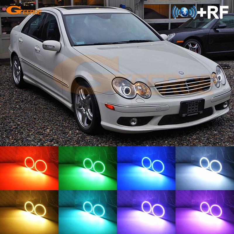 Pour Mercedes Benz C classe W203 C230 C240 C320 2001-2007 xénon phare RF Bluetooth contrôleur multicolore RGB led angel eyes