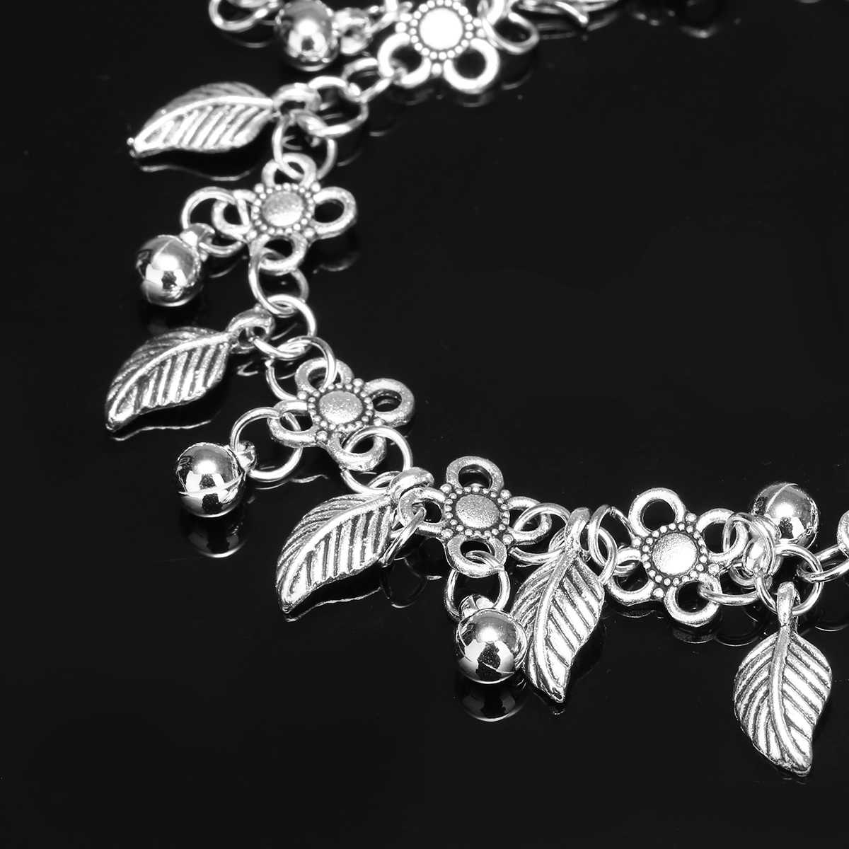 ボヘミア銀水は葉房アンクレット足チェーン新デザインのドロップ足首のブレスレット夏の海のビーチジュエリー Shellhard