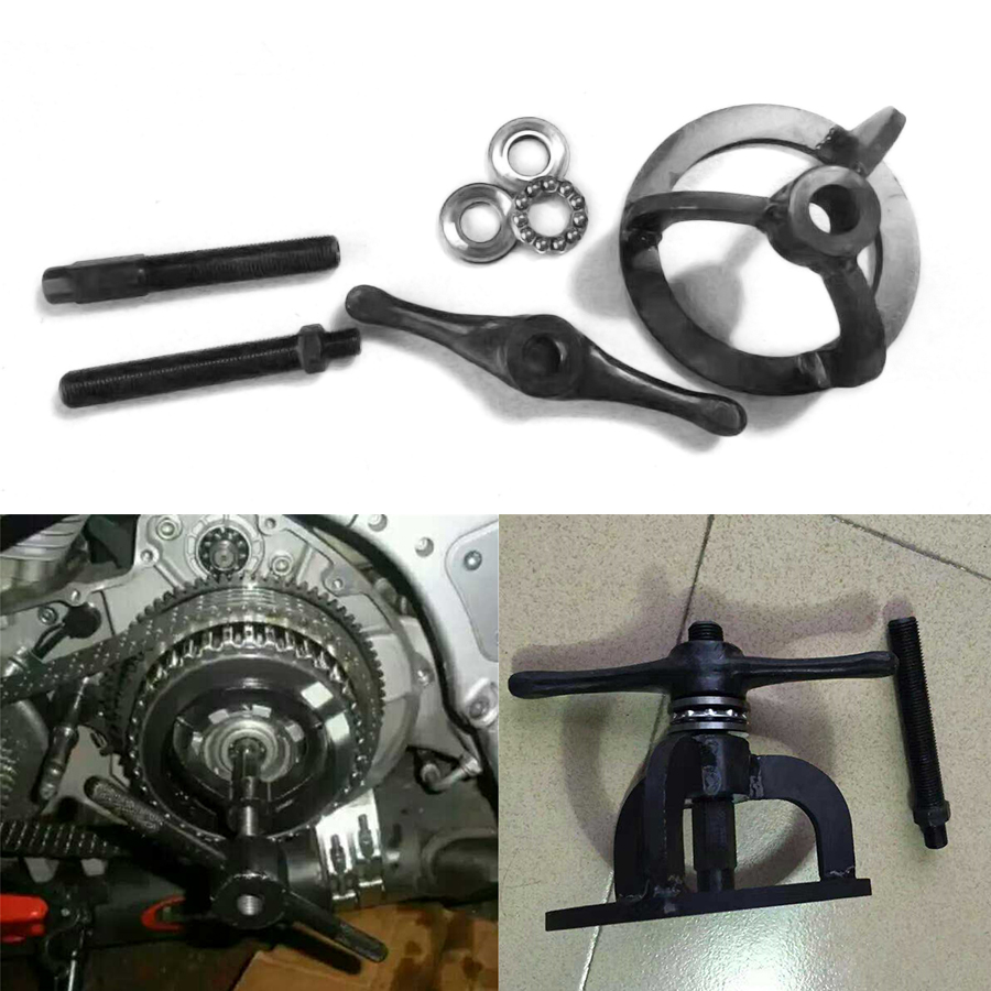 Motorcycle Clutch Spring Compression Tool Black For Harley 1340cc Touring Dyna Softail Sportster 48 XL 883 1200 1990 - 2007