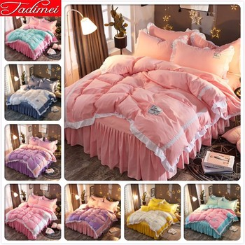 Pink Duvet Cover Bedding Set Kids Child Girl Soft Cotton Bed Linen Single Full Twin Queen Size Bedspread 150x200 180x200 200x220