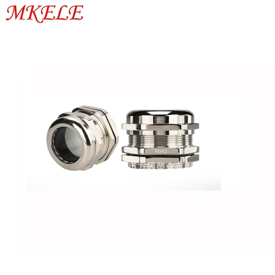 5pcs/lots PG42 Nickel Brass Metal Waterproof Cable Glands Joints IP68 cable connector for 32-38mm cable5pcs/lots PG42 Nickel Brass Metal Waterproof Cable Glands Joints IP68 cable connector for 32-38mm cable