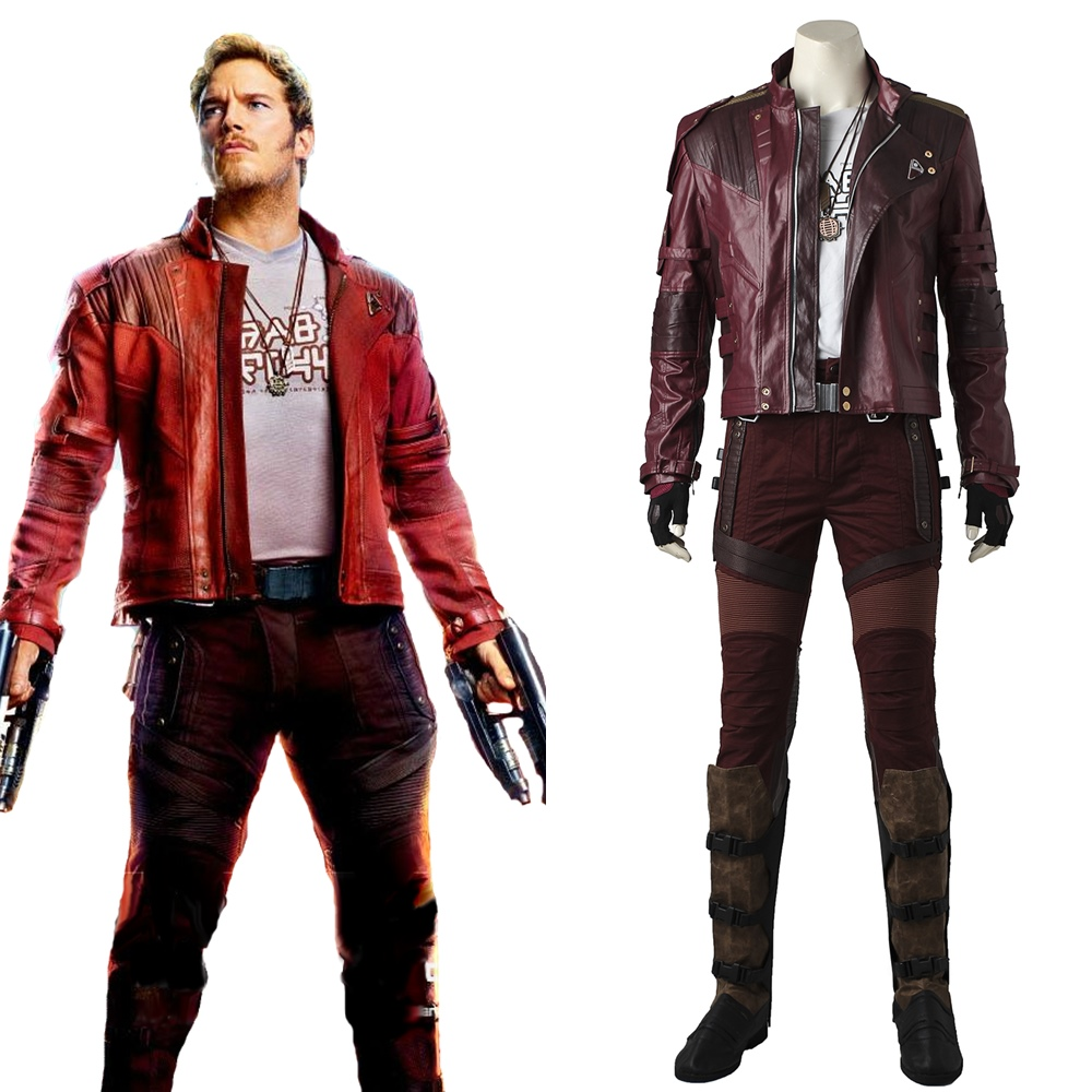 Guardians of the Galaxy 2 Star Lord Cosplay Costume Peter Jason Quill Short Jacket