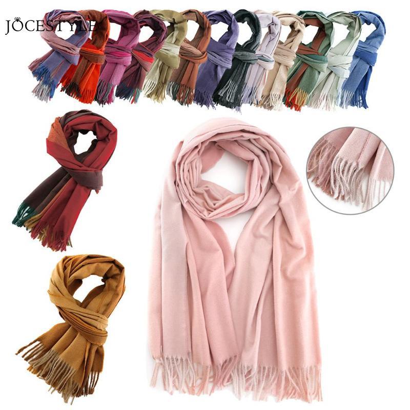 1800*650mm Gradient Cashmere   Scarf   Winter Autumn Warm Women Tassel Color Patchwork   Scarves     Wraps   Shawl