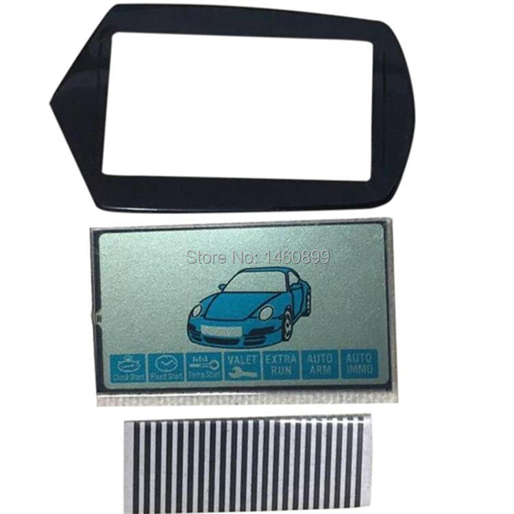 Wholesale B9 Zebra Paper B9 LCD Display+ Keychain Glass Case For Starline B9 Lcd Remote Control Key Chain Zebra Stripes