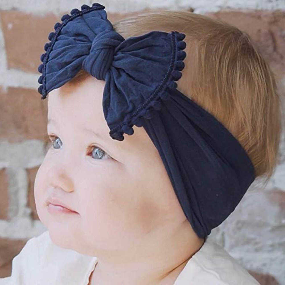 2020 Baru Bayi Baru Lahir Balita Bayi Gadis Kepala Kelinci Besar Busur Simpul Sorban Headband Rambut Aksesoris Bayi Hadiah 0-6Y