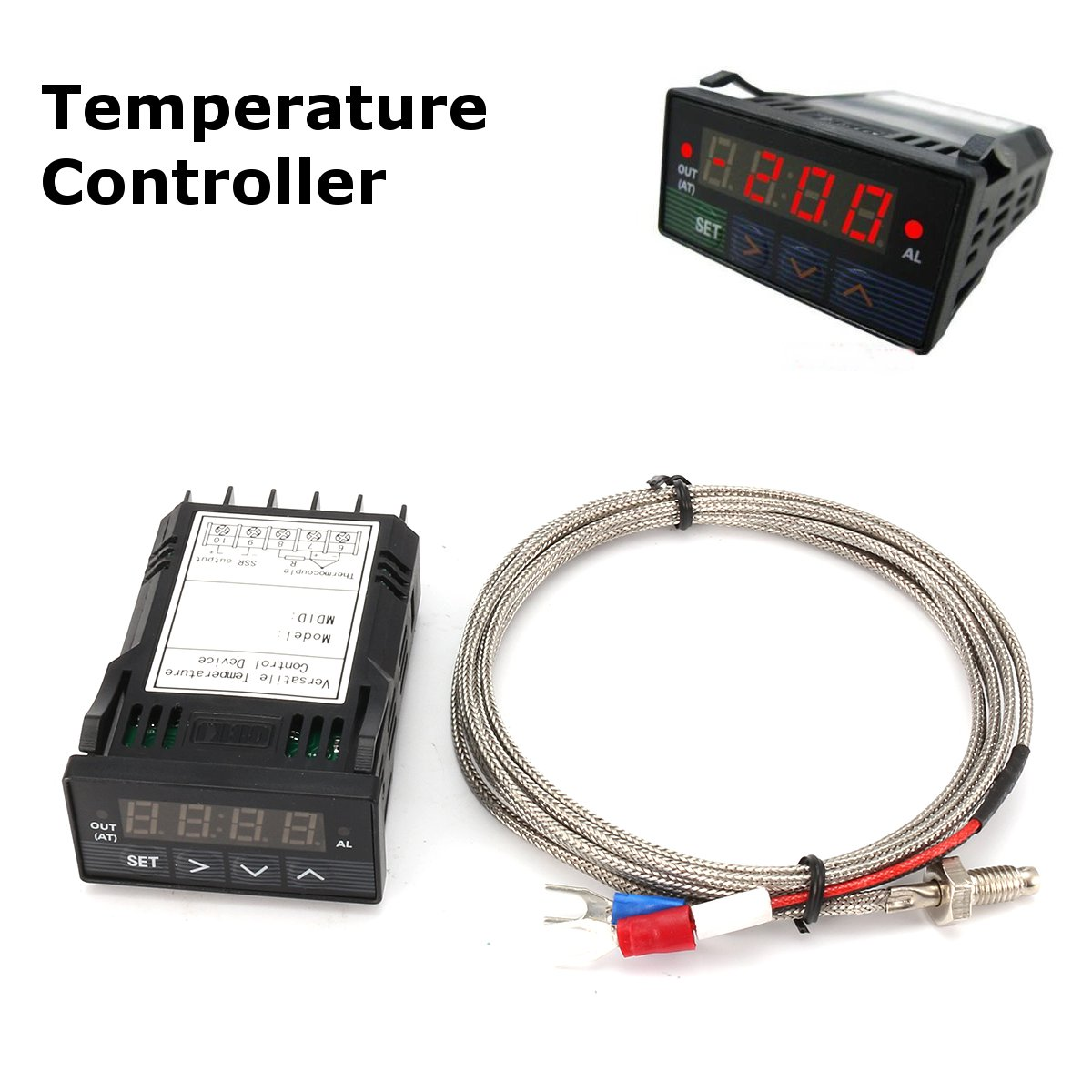 Dual Digital Display Pid Temperature Controller Furnace Kiln With Thermocouple