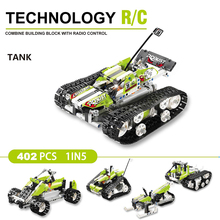 Remote-control Race Tank The RC Track Transformation Building Blocks Bricks Educational Toys Technic Series