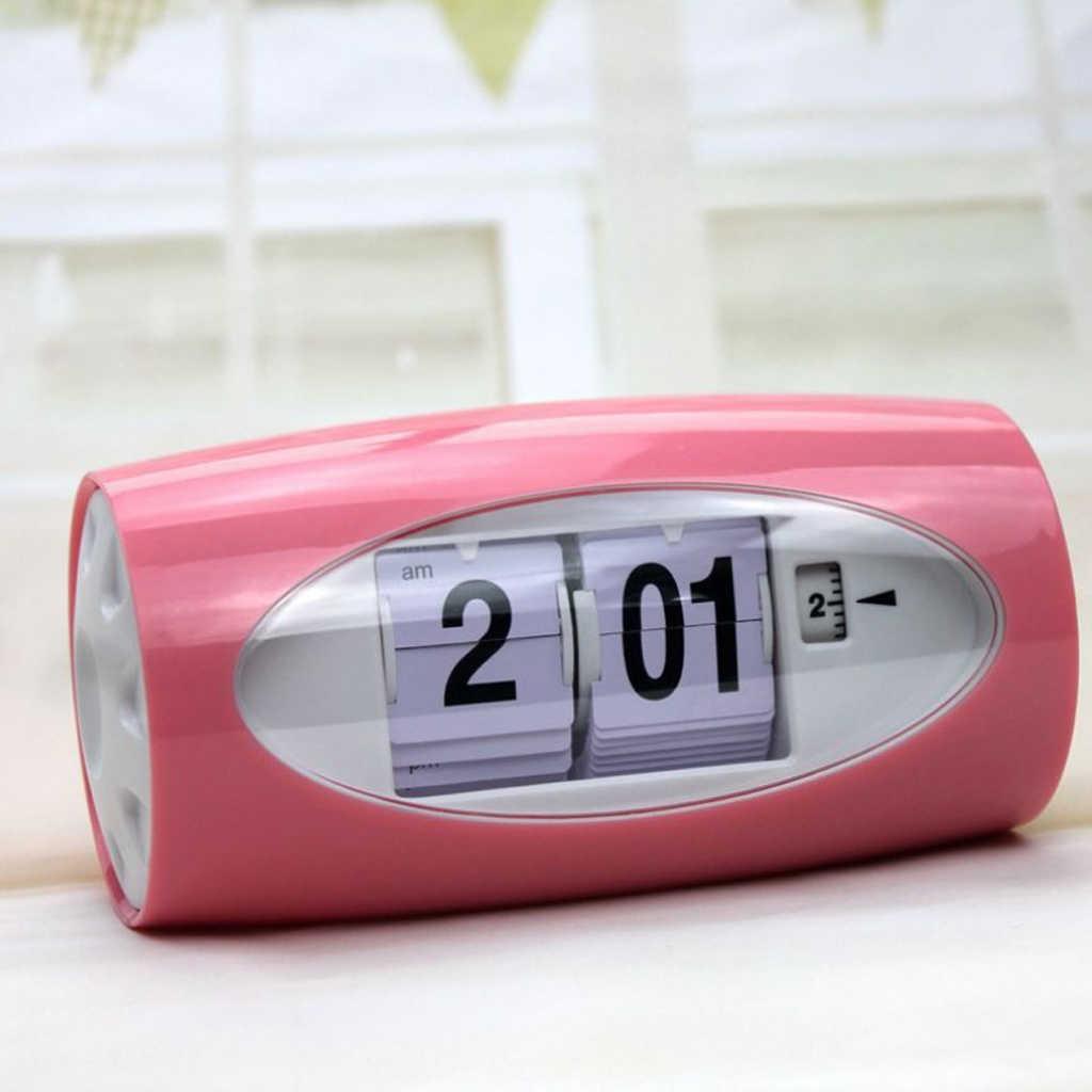 Auto Flip Uhr Tisch Wecker Kinder Retro Klassische Uhr Hause Schlafzimmer Decor Schreibtisch Uhr Digitale Tisch Uhr