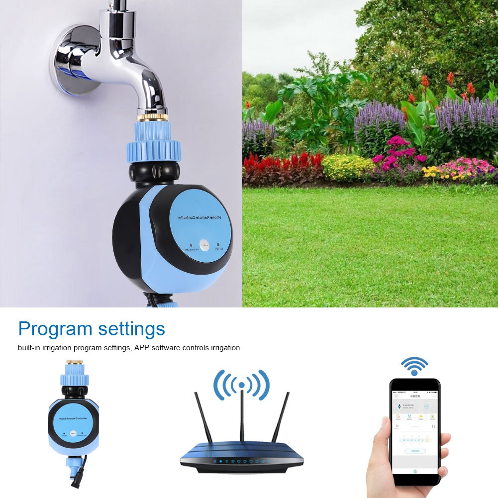 Wi Fi Remote Phone Control Water Timer Digital Automatic Electronic Garden Watering System Irrigation Supplies