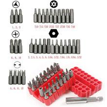33pcs Security Star Torx Screwdriver Bit Set Kit + Magnetic Drill Holder Hex Key цена