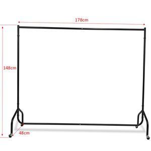 Image 1 - Ağır hizmet tipi 6FT Uzun Metal Elbise Askılı Ray Ev Dükkanı Haddeleme Konfeksiyon Ekran Standı Raf giysi askısı
