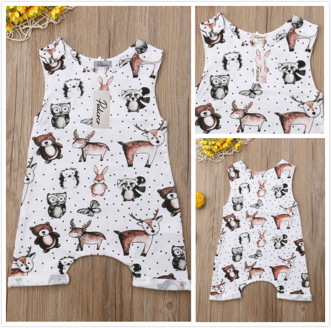 Pudcoco Baby Jumpsuits 0-24M US New Baby Kids Boy Girl Infant Cotton Romper Jumpsuit Clothes Outfit