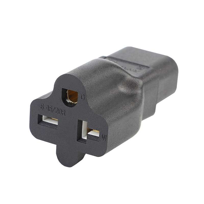 Iec320 C14 To 6-15R Ac Power Adapter Iec320 C14 To 6-20R Rconnector Converter Male To Female Socket Conversion Us Plug