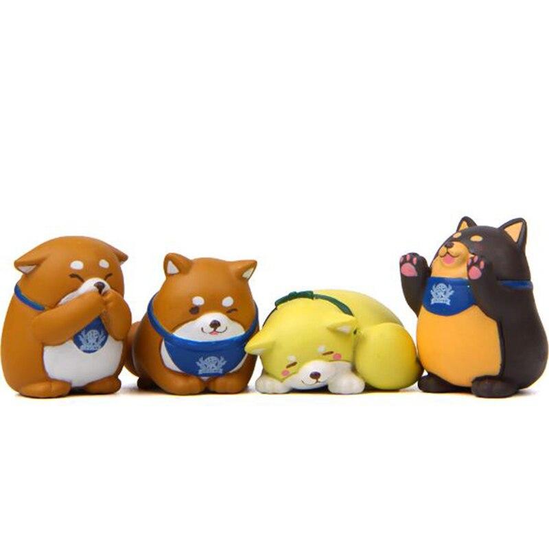 1 Pc Kawaii Shiba Inu Action Figure Cartoon Animal Dog Model Figure Toy DIY Resin Craft Ornament Doll Toy-0