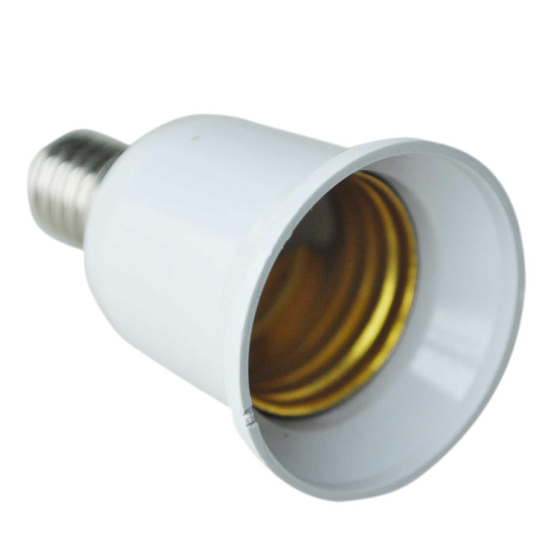 E14 do E27 przedłużyć podstawa LED ze świetlówek kompaktowych ze scaloną elektroniką zasilanych prądem zmiennym (żarówka adapter lampy konwerter śruba gniazdo