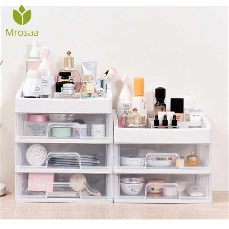 Plastic Makeup Organizer Cosmetic Drawer Makeup Storage Box Container Nail Casket Holder Desktop Sundry Storage Case Bead Tools