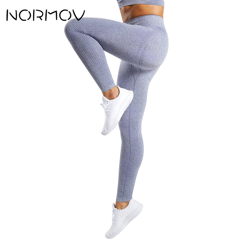 NORMOV mujeres mallas sin costuras deporte Leggings Mujer Fitness Yoga pantalones correr gimnasio Jogging Yoga Leggings Mujer