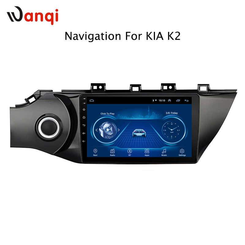 10.1inch Car Dvd player and Android 8.1 car cps navigator with BT carplay for KIA Rio3 K2 2017 GPS Audio Radio Video Bluetooth
