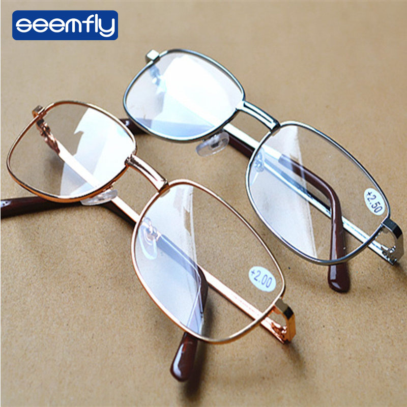 Seemfly Clear Vision Glasses Magnifier Magnifying Eyewear Reading Glasses Portable Gift For Parents Presbyopic Magnification