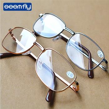 Seemfly wyraźny obraz lupa do okularów powiększające okulary do czytania przenośny prezent dla rodziców powiększenie prezbiopii tanie i dobre opinie Unisex Przezroczysty Lustro YJ0703 4 8cm Akrylowe 5 5cm Plastikowe tytanu
