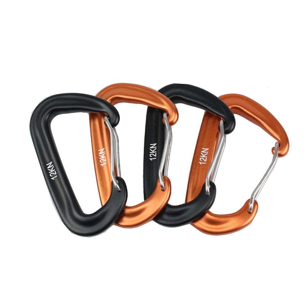 Strength 12KN Aviation Aluminum Mountaineering Buckle Climbing Quick-hang Hammock Safety Buckle Balance Carabiner Clasp
