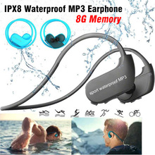 Original 100% Waterproof Mp3 Player Swimming Earphones Surfing IPX8 Sport Earbuds 8GB Memory Headphones USB Mini Music