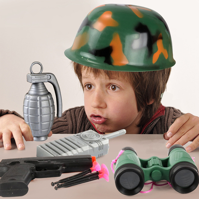 US $10 13 34% OFF|Creative Role Playing Children Simulation Fire Parent  Child Toy With Helmet Fire Man Pretend Play Parent Child Toys-in Other
