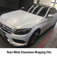 Classic car change color film Chameleon film White to golden Vinyl Wrap With no bubbles car light white packaging films