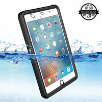 For iPad Mini 4 Waterproof Tablet Case Shockproof Dust Proof Tablet Cover with Adjustable Tablet Stand Built in Screen Protector