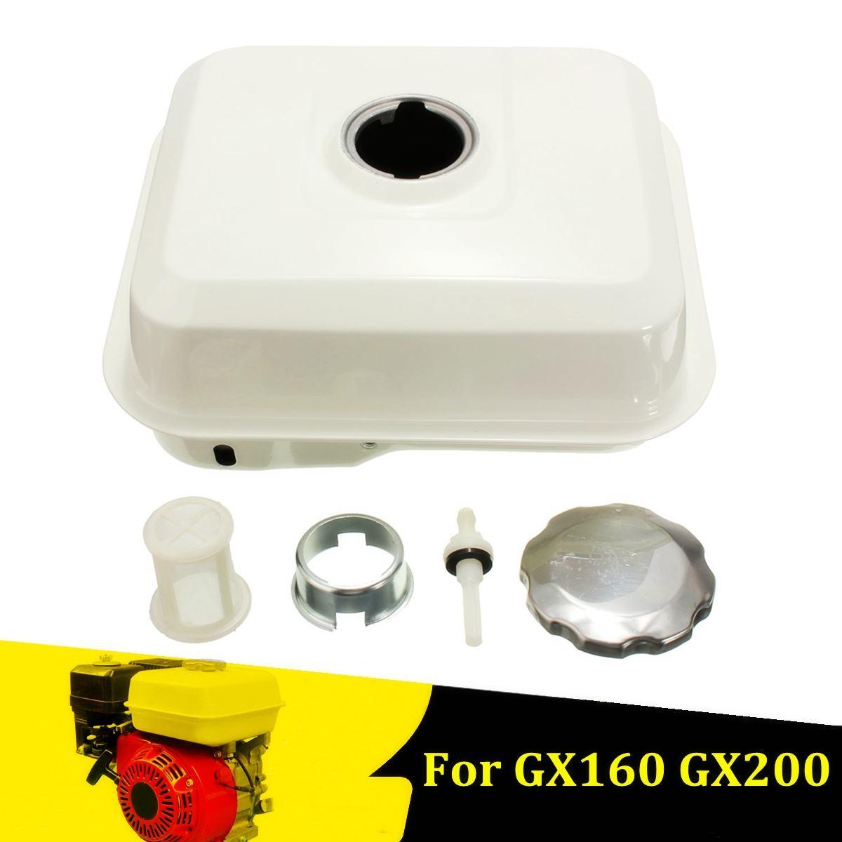 Réservoir de gaz de carburant 4L avec filtre à gaz Petcock blanc moteur à essence 5.5HP pour Honda GX120 GX140 GX160 GX200