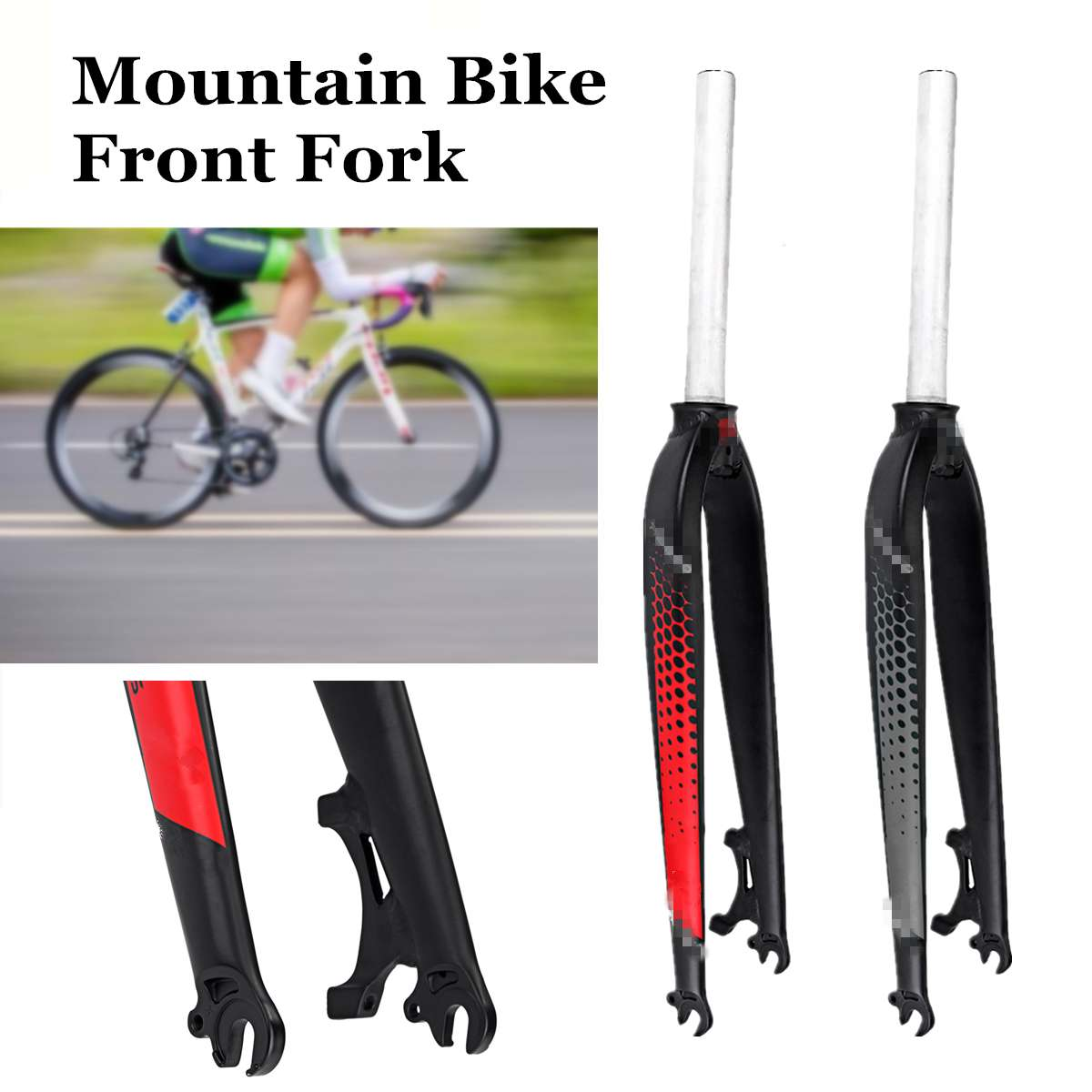 26 inch 29er Aluminum Alloy Bicycle Fork MTB Mountain Bike Cycling Bicycle Brake Disc Front Fork Bicycle Part Gray/Red 2019 New26 inch 29er Aluminum Alloy Bicycle Fork MTB Mountain Bike Cycling Bicycle Brake Disc Front Fork Bicycle Part Gray/Red 2019 New