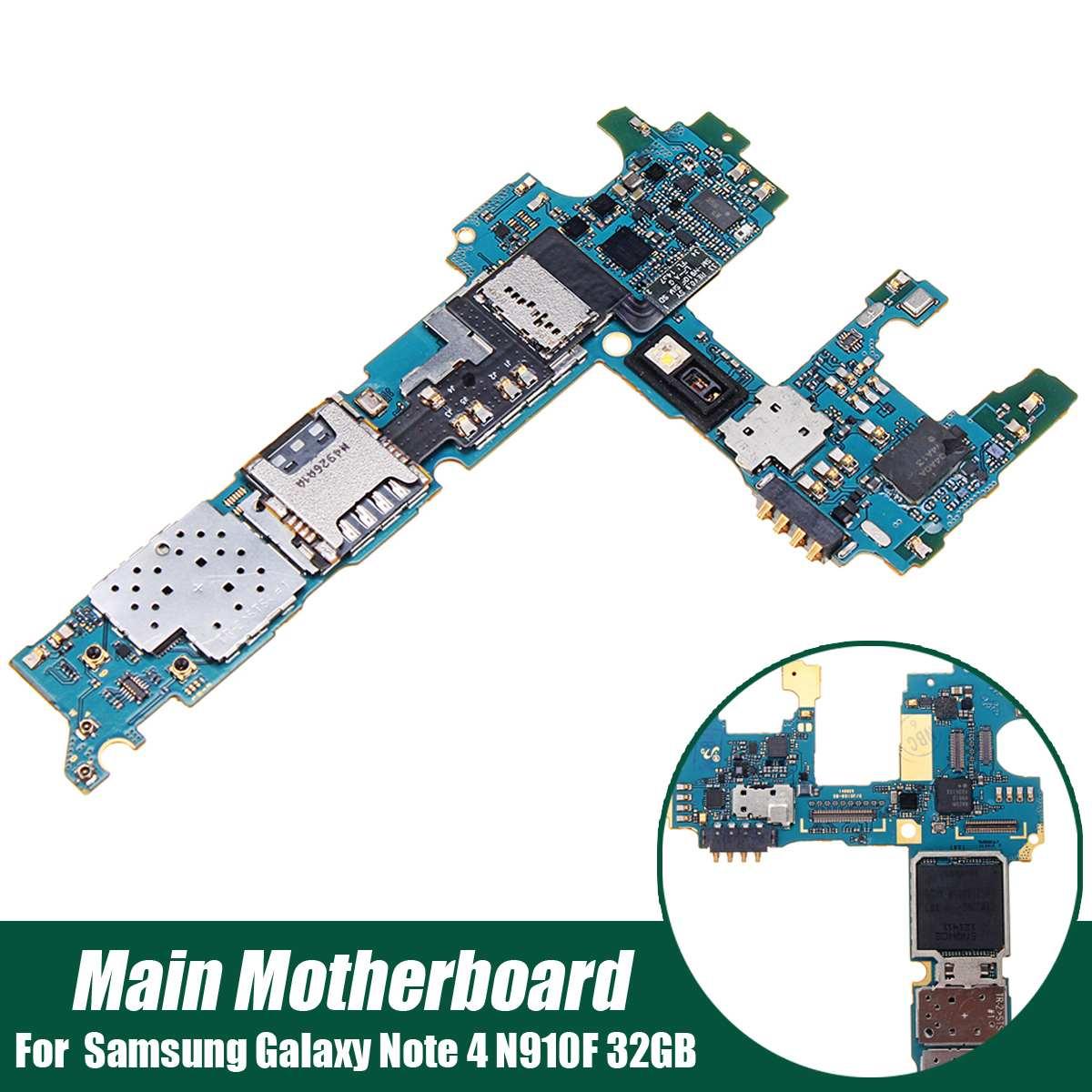 LEORY Principale Carte Mère Flex Câble Micro Dock Remplacement de la Carte Pour Samsung pour Galaxy Note 4 N910F 32 gb