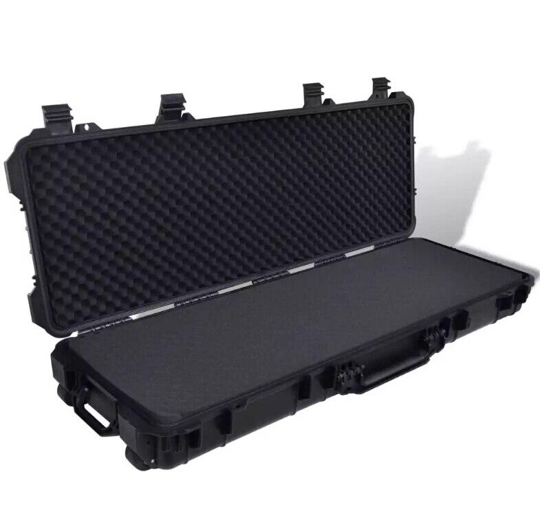 VidaXL Waterproof Plastic Molded Gun Case Trolly Carry Case 141079
