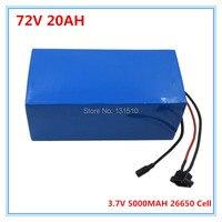2000 Вт 72 В 20AH электрический велосипед батареи 72 вольт 20AH литиевая батарея с ПВХ case 30A BMS 84 В 2A зарядное устройство Бесплатная доставка
