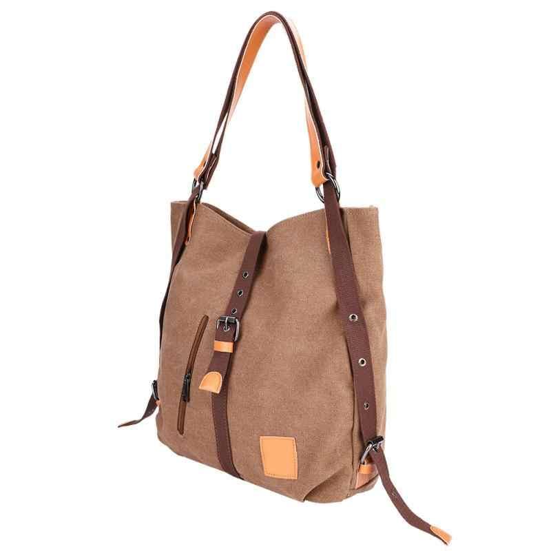 Toile sac de Sport multi-fonctionnel sac à main fourre-tout femmes fille sac à bandoulière grande capacité sac à dos sac de Sport pour Fitness formation Yoga