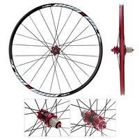 26'' 24H Disc Brake Bike Wheel MTB Mountain Road Bike Bicycle Wheelset Hubs Rim Front Rear Bicycle Wheels Rims