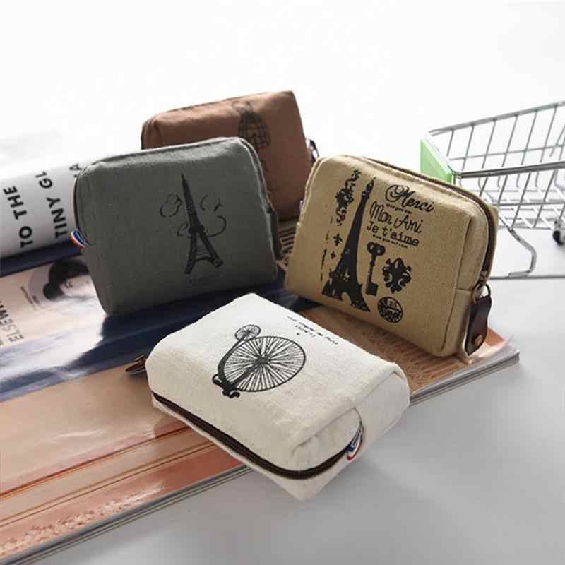 Coin Purses New Style Canvas Coin Wallet High Quality Child Women Change Purse Lady Portable Small Zipper Key Pouch Gift